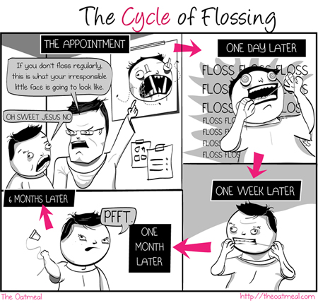 Comic courtesy of theoatmeal.com - This Kitsilano dentist does not endorse this behaviour.